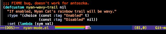 Emacs + NyanMode = Nyanmacs! (2)